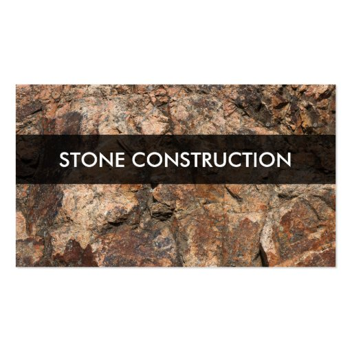 Stone Construction Materials : Stone construction materials business card zazzle