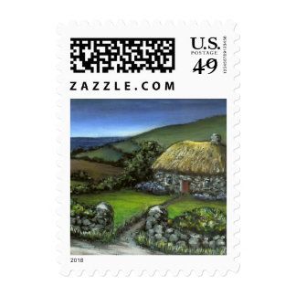Stone cottage in Donegal Postage Stamps