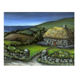 Stone cottage in Donegal Postcard