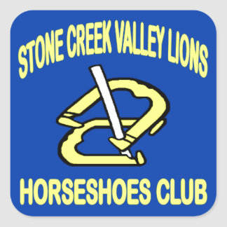 Stone Creek Valley Lions HorseShoes Club Square Sticker