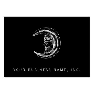 Stone Crystal Crescent Moon White Business Cards