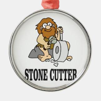 stone cutter man metal ornament