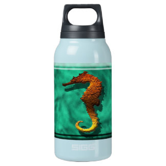Stone design seahorse insulated water bottle