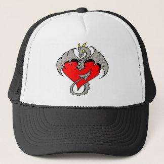Stone Dragon & Heart Trucker Hat