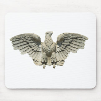 Stone Eagle Sculpture Mouse Pad