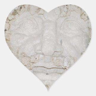 Stone-Face3 Heart Sticker
