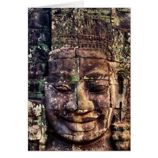 Stone face at Bayon Card