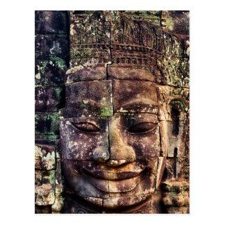 Stone face at Bayon Postcard