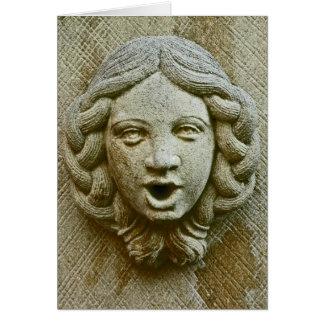 Stone Face Card