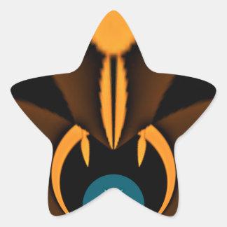 Stone Face Hakuna Matata Star Sticker