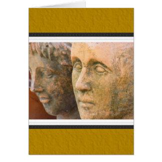 Stone Faces Card