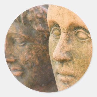 Stone Faces Classic Round Sticker