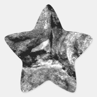 Stone faces star sticker