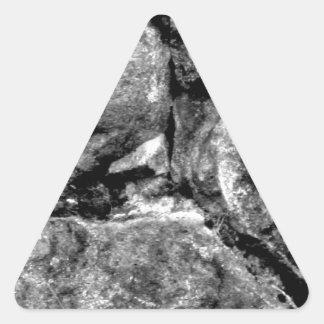 Stone faces triangle sticker