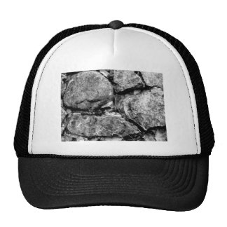 Stone faces trucker hat