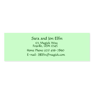 Stone Fairy Cottage Double-Sided Mini Business Cards (Pack Of 20)