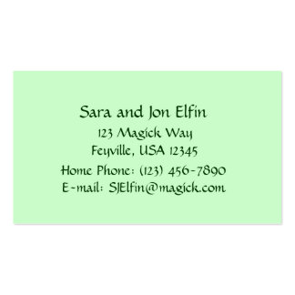 Stone Fairy Cottage Double-Sided Standard Business Cards (Pack Of 100)