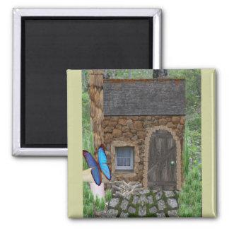 Stone Fairy Cottage Magnet