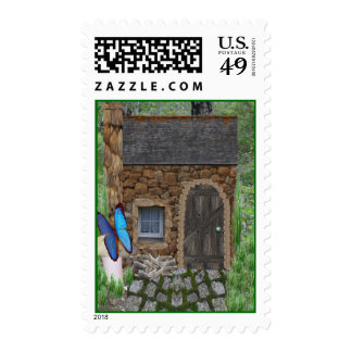 Stone Fairy Cottage Postage Stamps