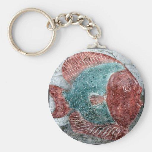Stone Fish Key Chain