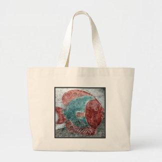 Stone Fish Large Tote Bag