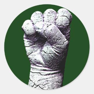 Stone fist classic round sticker