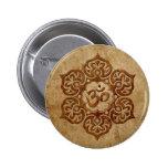 Stone Floral Aum Design Button