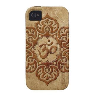 Stone Floral Aum Design iPhone 4 Cases