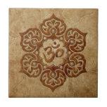 Stone Floral Aum Design Tiles