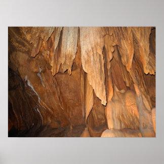 Stone Fold Elegance Cavern Poster