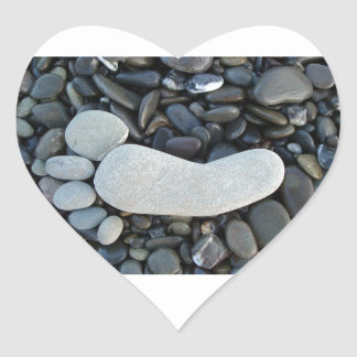 Stone Footprint Heart Sticker