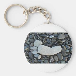 Stone Footprint Keychain
