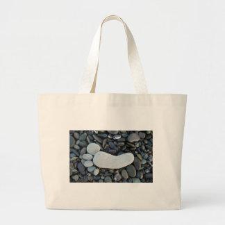 Stone Footprint Large Tote Bag