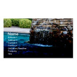 stone fountain in an in-ground pool business card templates