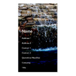 stone fountain in an in-ground swimming pool business card template