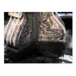 stone fountain post card