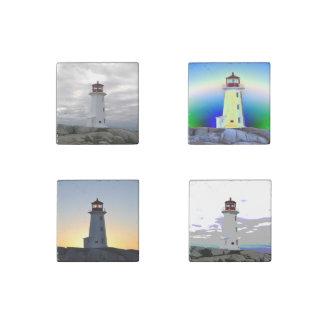 Stone Fridge Magnets Four seasons   Lighthouse Stone Magnet