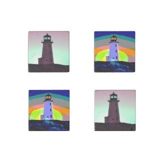 Stone Fridge Magnets    Lighthouse Stone Magnet