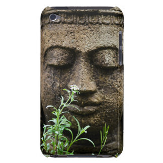 Stone garden statue with flower barely there iPod case