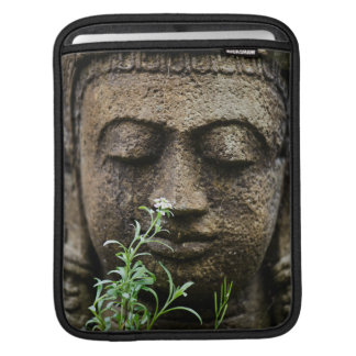 Stone garden statue with flower sleeve for iPads