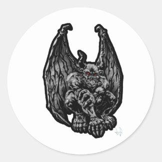 Stone Gargoyle Round Sticker