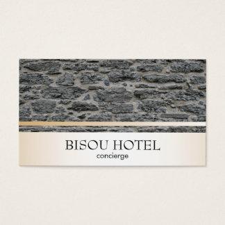 Stone / Gold Trim Business Card