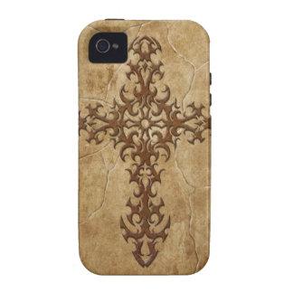 Stone Gothic Cross iPhone 4 Case