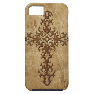 Stone Gothic Cross Case For The iPhone 5