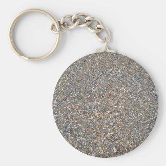 Stone Gravel Texture Basic Round Button Keychain