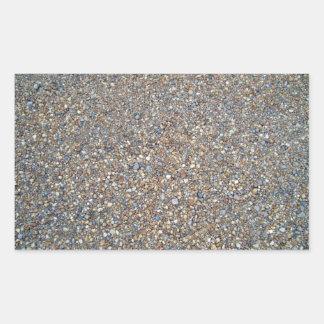 Stone Gravel Texture Rectangular Sticker