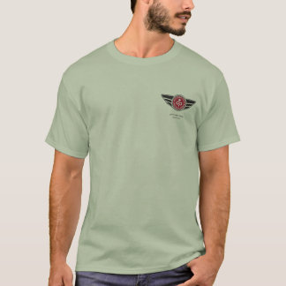 Stone Green T-shirt w/red MCR logo and motto