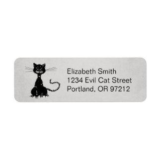 Stone Grey Ragged Evil Black Cat Label