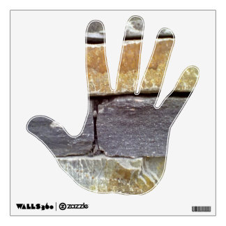 Stone hand wall decal
