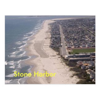 Stone Harbor Beach Aerial Postcard